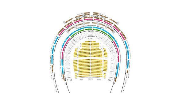 Plano del Teatro de la Scala de Milán