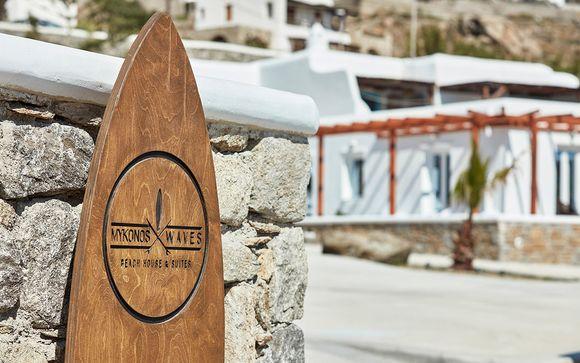 Poussez les portes de l'hôtel Mykonos Waves Beach House & Suite 4*