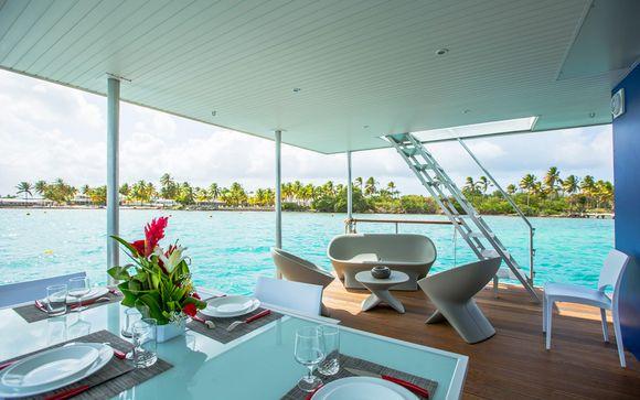 Une villa flottante sur le lagon