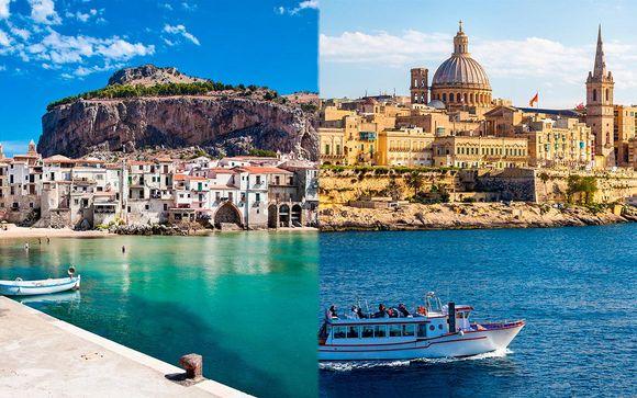 Combin� H�tels 4* Sicile et Malte avec location de voiture
