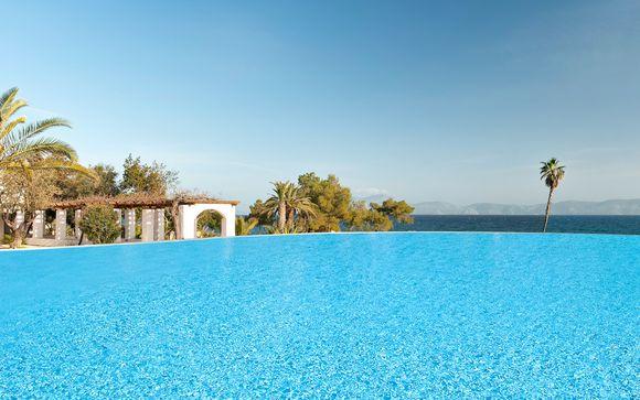 Pause relaxante au bord de la mer Egée