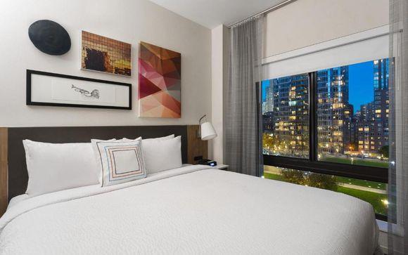 Poussez les portes de l'hôtel Fairfield Inn & Suites à New York