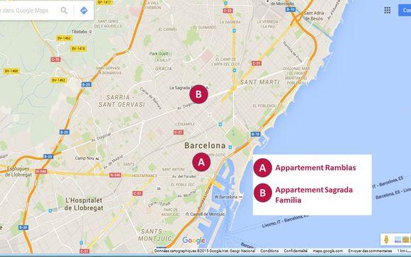 Localisation géographique des 2 appartements