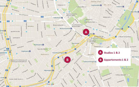 Découvrez la situation géographique des 4 propriétés