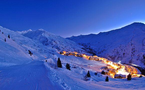 Adresse cocooning et moderne skis aux pieds