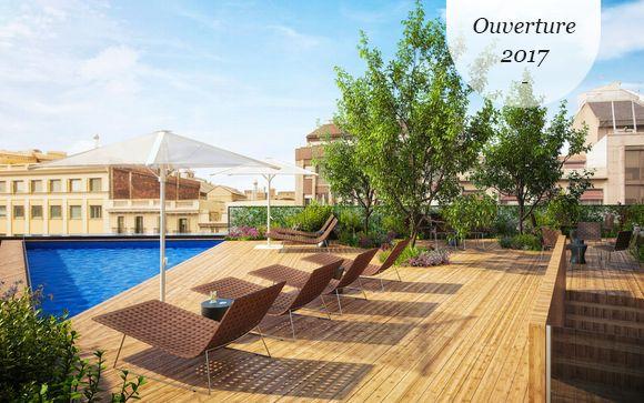 Toit-terrasse avec piscine près des Ramblas