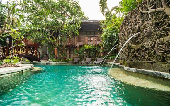 Poussez les portes de l'hôtel Adiwana Monkey Forest 4*