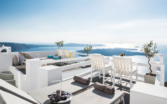Combiné 4* Klepsydra Urban Suites Athènes et On the Rocks Santorin