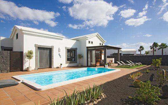Villas et piscine privée face à l'océan Atlantique