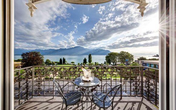 Storico 5* con vista sul lago di Ginevra e sulle Alpi