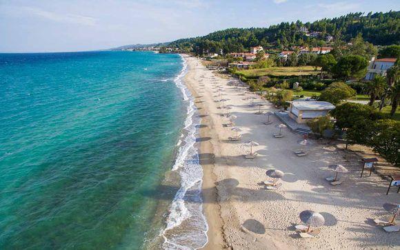 Raffinato 5* con spiaggia privata a Kriopigi