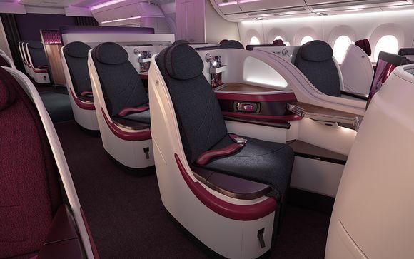Regalatevi il lusso di un volo con Qatar Airways