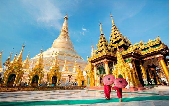 Tour privato della Birmania + estensione mare a Ngapali