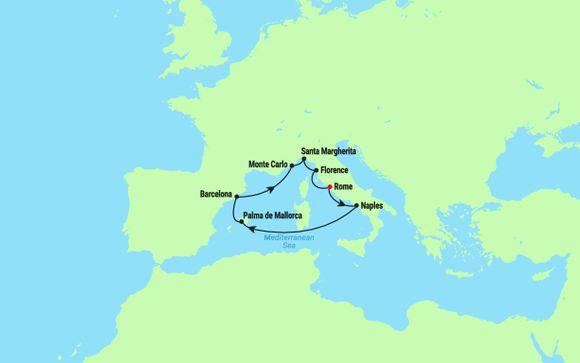 L'itinerario della Crociera