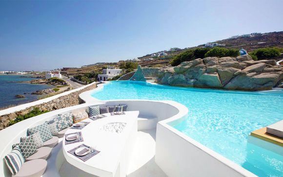 Intimo relax vista mare sulla splendida Mykonos