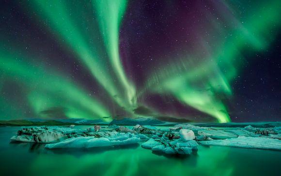 Tra ghiacciai e aurore boreali con accesso Spa