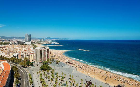 Vista mare con accesso alla spiaggia Barceloneta